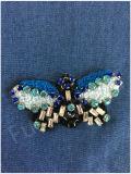 의복 부속 나비 자수 구슬로 장식