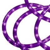 高い明るさの防水屋外の紫色の円形2ワイヤーLEDロープライト