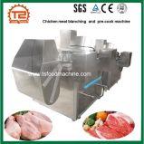 El equipo de blanqueo del blanqueador de la carne del pollo y precocina la máquina