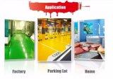 Méthode d'application de la brosse l'état liquide peinture époxy décoratifs-de-chaussée