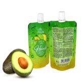 L'emballage de liquides sac en plastique avec pochette pour jus de fruits de la tuyère