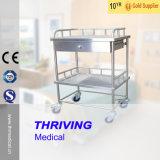 Thr-Mt241 Aço inoxidável Carrinho de Tratamento Médico