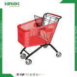 Trole plástico durável da compra para o supermercado