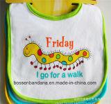Busbana francese bianca del grembiule del bambino del Terry del cotone della stampa del fumetto dei prodotti della fabbrica della Cina