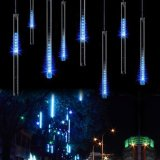 Angeschaltenes 10tubes/Sets LED Meteor-Solarlicht des Regentropfen-Light/LED