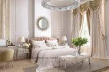 Novo design moderno cama em pele de tecido
