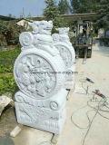 Lado de escultura em mármore branco para Decoração/Colecção de Arte