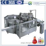 완전한 생산 라인을 채우는 채우는 캡핑 및 레테르를 붙이는 기계 주스