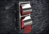 An der Wand befestigte Edelstahl-Doppelt-Toiletten-Rollenhalter-Badezimmer-Zubehör-doppelter Toilettenpapier-Halter