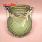 Candela della citronella in vaso di vetro e candela esterna