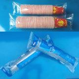 Taza de papel de la taza plástica automática que cuenta y empaquetadora