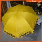 印刷される最新のカスタムロゴ日よけ浜パラソルの傘を広告する