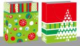 紫外線のそりによって印刷されるクリスマスのショッピング・バッグ