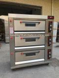 Handelsgas-Pizza-Ofen der backen-Maschinen-3-Deck 6-Tray