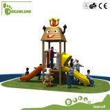 Campo de jogos ao ar livre de madeira interessante pré-escolar do preço de fábrica para o divertimento