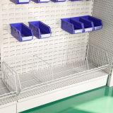 Gute Qualitätsdoppelt-Seiten-Supermarkt legt Gondel-Zahnstange mit Hooks&Work Sortierfächern beiseite