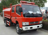 Dongfeng 4X2の二重タクシーの消火活動トラック4500リットルの水貨幣の
