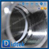 Didtek a fileté l'acier inoxydable de TNP robinet à tournant sphérique de trois parties