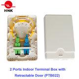 2 Kanal-Innenanschlußkasten mit einziehbarer Tür (PTB022)