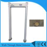 48kg Digitas Waterproof a caminhada através da porta de segurança do detetor de metais do frame de porta