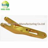 Het Aluminium CNC die van het Wapen van de schakelaar Delen met het Gouden Anodiseren machinaal bewerken
