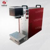 Mini macchina portatile della marcatura del laser della fibra con 20W, sorgente di laser 30W
