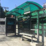 La conception de la ville de plein air Métaux Acier abribus publicitaires de la conception de la station d'arrêt