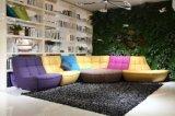 Modernes Wohnzimmer-Möbel-Leder und Gewebe-Freizeit-Sofa