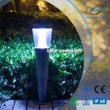 Éclairage solaire extérieur élevé de jardin de lumière de pelouse des lumens DEL