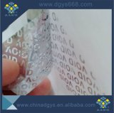 無効のタンパーの明白なホログラムのシールのラベルの印刷