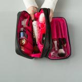 Fait sur commande imperméabiliser les sacs cosmétiques de 2 couches pour le lavage