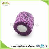 Veterinário da pele e auto-adesivo impermeável coesa alta bandagem elástica
