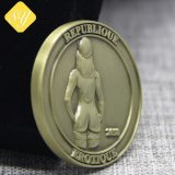 China-Hersteller kundenspezifische Metallzink-Legierung Bitcoin Münze