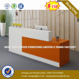 강철 금속 겸손 위원회 강화 유리 수신 테이블 또는 책상 (HX-8N1799)