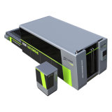 A máquina de fibra óptica possui plataforma de troca