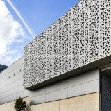 Tela de alumínio esculpida perfuradas de arquitetura para cabeça do painel de revestimento de paredes