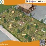 Terrain de jeux en bois de plein air CS pour les enfants