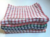 OEMの農産物の習慣はジャカード綿のテリーの緑の台所皿タオルを点検する