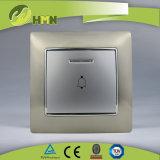 Ce/TUV/BV zugelassenes europäischer Standard-Metallzink 1Gang mit LED-GOLDbell-Stoss-Schalter