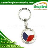 Kundenspezifische fördernder Metallkleber-Schlüsselkette (SK116)