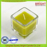 Kleine quadratische Form-Glasglas-Kerze mit Duft