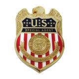 Оптовая торговля Custom латунные 3D-Gold покрытие нас специальный агент металлической эмали Булавка (113)