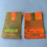 Custom 75D de alta densidad de Damasco de poliéster de paño grueso etiqueta tejida ropa ropa de etiqueta etiquetas principal