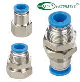 Connettori pneumatici diritti femminili del tubo flessibile di Pmf-G della paratia