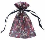 ノーベル贅沢な習慣によって印刷されるオーガンザの袋のJewellryのサテンのリボンのドローストリングの袋(COB-1135)