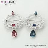 La moda elegante broche de joyería de perlas en color rodio