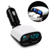 3.4A Dual USB Digital Display Car Fast Charger, compatibele draadloze autolader voor iPhone XS Max/xr/X/8/8plus Samsung S9/S8/Note 8