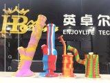 Großhandelsprodukt-Schädel leitet abnehmbares Silikon-Gummi-Pfeifenweed-rauchendes Gummirohr
