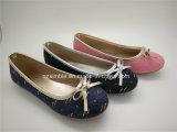 キャンバスの甲革が付いている子供の女の子のバレエの偶然靴