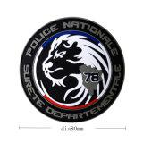 Flard van pvc van het Embleem van de Leeuw van de douane het Rubber Zachte met de Magische Steun van de Band